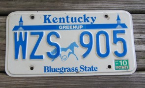 Kentucky Unbridled Spirit License Plate 2017