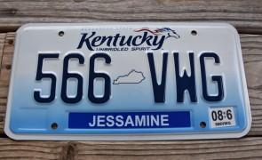 Kentucky Unbridled Spirit License Plate 2017
