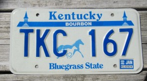 Kentucky Unbridled Spirit License Plate 2013 Graves County