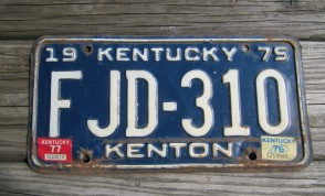 Kentucky Unbridled Spirit License Plate 2013 Boone County