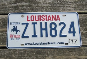 Louisiana Motorcycle License Plate 2015