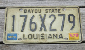 Louisiana License Plate 2015 Sportsman's Paradise