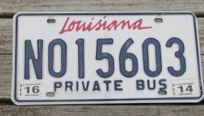 Louisiana License Plate 2016 Sportsman's Paradise