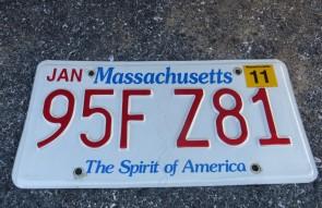Massachusetts The Spirit of America License Plate 2011