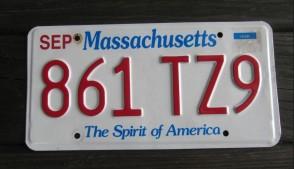 Massachusetts The Spirit of America License Plate 2017