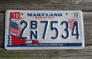 Maryland Sheild License Plate 2000 EJN 669