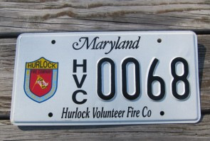 Maryland Hurlock Volunteer Fire Co License Plate 2004 Firefighter Company
