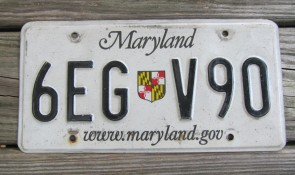 Maryland Blue White License Plate 1970