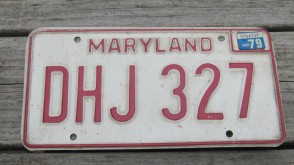 Maryland Shield License Plate 2005