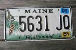 Maine Chickadee License Plate 2003