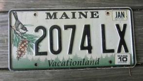 Maine Chickadee License Plate 2010