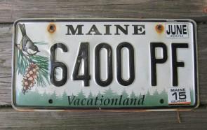 Maine Chickadee License Plate 2015