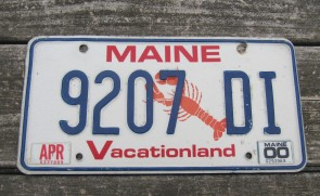 Maine Vacationland License Plate 1960's