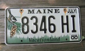 Maine Yellow Vacationland Commercial License Plate 1973
