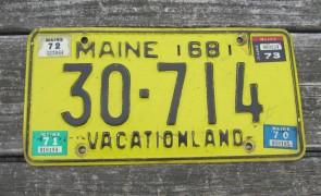 Maine Chickadee Vacationland License Plate 2011 4036 RP