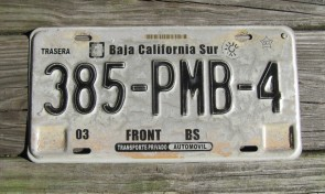 Mexico Baja California SUR License Plate Front BS