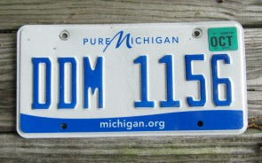 Michigan Blue White License Plate 2001 REC 544 Great Lakes
