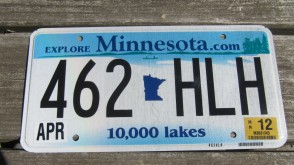 Minnesota License Plate 1980's