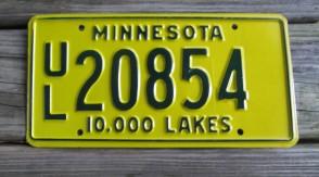 Minnesota Explore Minnesota 10,000 Lakes License Plate 2008