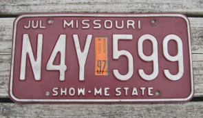 Missouri Blue Bird License Plate 2014 Show Me State