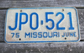 Missouri Blue Bird License Plate 2012 Show Me State