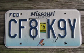 Missouri Blue Bird License Plate 2011 Show Me State