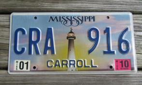 Mississippi Lighthouse License Plate 2009