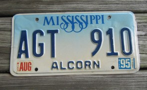 Mississippi Guitar Celibrating Mississippi's Creative Culture License Plate 2014 Tippah County