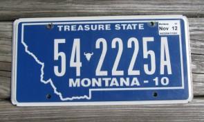 Montana Blue Treasure State License Plate 2014