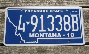 Montana Big Sky License Plate 2004