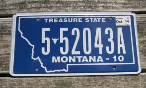 Montana Big Sky Country License Plate 2012