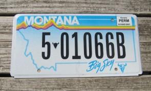 Montana Blue Treasure State License Plate 2015