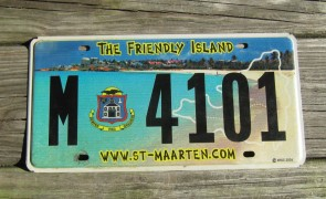 ST Maarten The Friendly Island License Plate