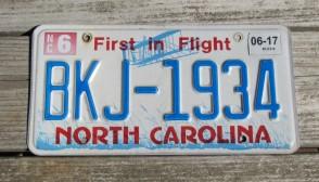 North Carolina License Plate First In Flight 2012