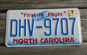 North Carolina First In Flight License Plate 2016