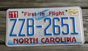 North Carolina License Plate First In Flight 2016