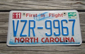 North Carolina First In Flight License Plate 2007