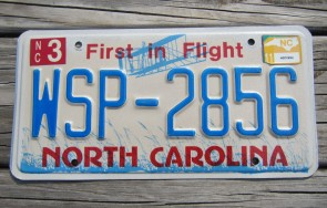 North Carolina First In Flight License Plate 2011