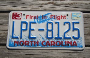 North Carolina First In Flight License Plate 2000