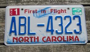 North Carolina First In Flight License Plate 2014
