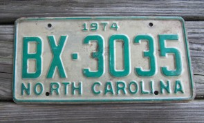 North Carolina First In Flight License Plate 2012 ZZE 9690