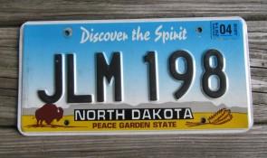 North Dakota Buffalo Discover The Spirit License Plate 2015 JSL 676