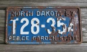 North Dakota Buffalo Discover The Spirit License Plate 2016 JBJ 507