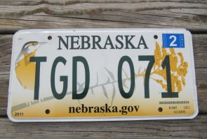 Nebraska Meadowlark License Plate Wren Bird 2014