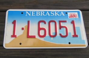 Nebraska City Mountain License Plate 2002