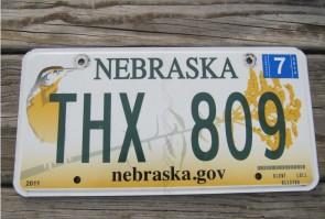 Nebraska Meadowlark License Plate Wren Bird 2014