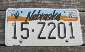 Nebraska Green Chrome License Plate 1948
