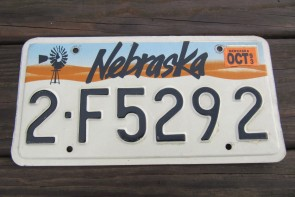 Nebraska City Scene Sunset  License Plate 1993