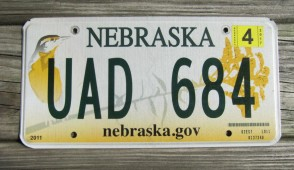 Nebraska Covered Wagon License Plate 2009