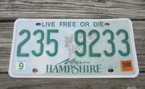 New Hampshire Old Man Of The Mountain License Plate 2008